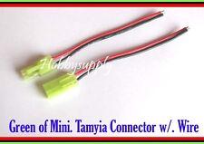 2 x MINI TAMIYA RC Li-PO Battery Male Female Connector 20AWG 10cm Silicone Wire