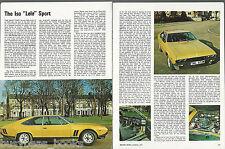 1973 ISO LELE article, Italian sports car, from British magazine, 4 photos