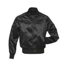 Finest Quality Black Satin Baseball Letterman School College Varsity Jackets