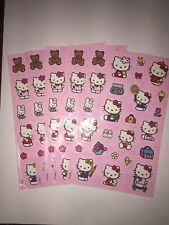 Sandylion hello Kitty pink Stickers lot of 4 SHEETS 4 X 6