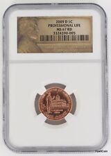 2009-D Lincoln Professional Life Bicentennial Cent Penny 1C NGC MS67RD
