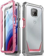 Motorola Moto G Мощность (2021) чехол , Poetic ® двухслойный ударопрочный чехол розовый