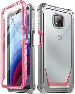 Motorola Moto G Power (2021) Case,Poetic® Dual Layer Shockproof Cover Pink