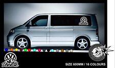 Vw Van Life Transporter Camper Van Caravelle Graphics Decals Stickers T4 T5