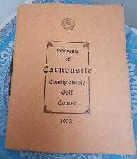 More details for carnoustie championship golf club souvenir 1933, 43 page booklet, good condition