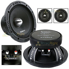 "2 Orion Audio 1600 W Watt 8"" Mid Range Bass Loud 4 Ohm Speakers Pair XTX854"