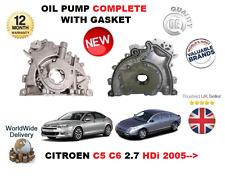 für Citroen C5 C6 2.7 HDi UHZ DT17 2005- > NEU Ölpumpe komplett mit Dichtung