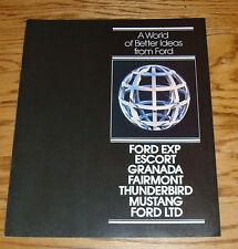 Original 1981 Ford Full Line Sales Brochure 81 3/81 Mustang Thunderbird