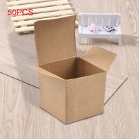 50 PCS Kraft Gift Boxes Jewelry Candy Box Chocolate Box Paper Wedding Craft UK