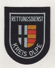Uniform Aufnäher Patches Ärmelabzeichen Rettungsdienst Kreis Olpe / Schwarz