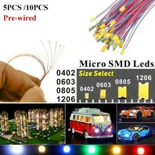 100pcs Pre Wired Led Diodes Micro Mini Diy Toy Model Lights 0402 0603 0805 1206