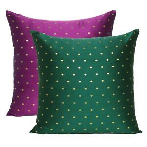 Modern Pillow Cover Art Silk Brocade Reversible Pillow Case Outdoor Pillow Case