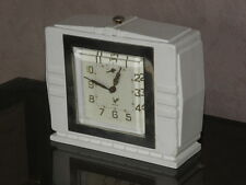 vintage clock alarm blangy retro desk  Art Deco design  Mechanics uhr old french