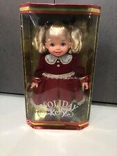 """16"""" MY SIZE BARBIE HOLIDAY CHRISTMAS KELLY BABY DOLL RED DRESS GIFT SHOES"""