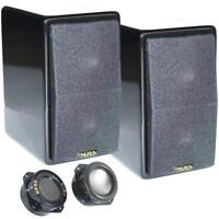 AuraSound Whisper Mini Audiophile Black Lacquer Satellite Speakers