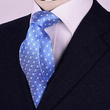 Light Blue Luxury Weave Patterned Neck Tie Sexy Designer 8CM Fashion Necktie