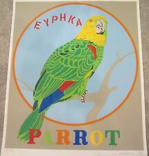"Robert Indiana ""Parrot""  1971 Serigraph Hand Signed & Numbered From Decade"