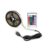 Flexible USB 5V 5050 LED Strip Light Tape Lighting Color Change + Remote Control
