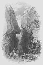 Indiana Jones Last Crusade Petra Ruins Treasury Jordan, 1835 Art Print Engraving