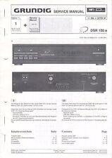 GRUNDIG - DSR 100 a - Anleitung Service Manual - B3481