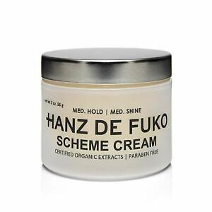 Hanz de Fuko Scheme Cream Medium Hold Medium Shine 2 oz