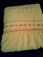 Vintage Country Bedspread Yellow Skirted Full Size Shabby Cottage