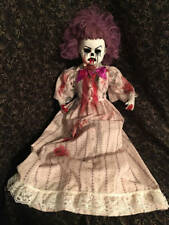 Large Sitting Blood scary ooak Clown Circus Sideshow Christie Creepydolls