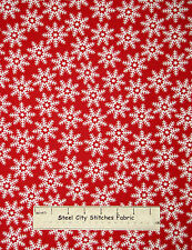 Christmas Snowflake Toss Fabric 100% Cotton By The Yard Windham Let It Snow