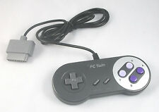USA SELLER: New Super NES SNES Yobo FC Twin Controller Black & Purple Buttons