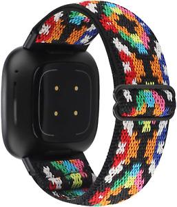 Fitbit Versa 3 Sense Fitness Tracker Band Soft Breathable Elastic Nylon Strap