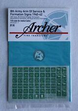 Archer 1/35 British 8th Army AOS & Formation Signs 1940-1942 #1 (7mm) AR35067.7