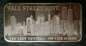 Wall Street Mint 10oz Silver Bar
