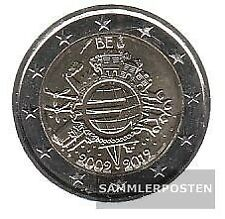 Belgien 2012 Stgl./unzirkuliert 2012 2 Euro 10 Jahre EURO Bargeld