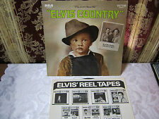ELVIS COUNTRY 33 RECORD VINTAGE ELVIS PRESLEY