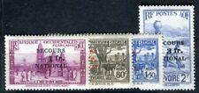 COTE D IVOIRE 1941 Yvert 165-168 * SATZ SECOURS NATIONAL (F3572