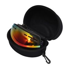 WODISON OTG Anti Fog Wide Angle Skate Ski Snow Goggles With Carrying Case Black