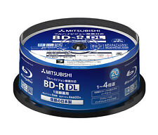 20 Mitsubishi Verbatim Blu Ray Writable Disk 50GB 4X Inkjet Printable Bluray