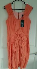 Cue dress, Size 8, Apricot & New with Tags