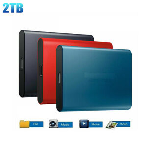 USB 3.0 High Speed Type-C Portable 2TB SSD External Solid State Drive Storage US