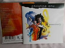 CHRISTINE ANU - ACOUSTICALLY OZ 14 TRK CD **AUTOGRAPHED** - VERY CLEAN