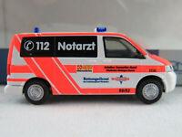 """Rietze 51921 VW T5 Bus (2009) """"ASB KV Wiesbaden / NOTARZT"""" 1:87/H0 NEU/OVP"""