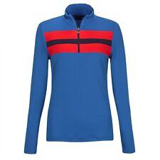 NWT Golfino Ladies Retro Sport Troyer Blue Golf 1/4 Zip 4339722 552 pick size