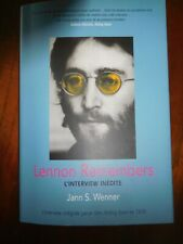 Lennon Remembers L'Interview Inedite' (French) Book