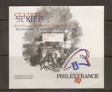 St Kitts SC # 253 Conflict On The champ-de-mars ( Philexfrance 89 ). MNH