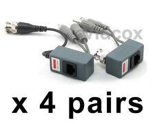 4 Pairs Video Power Audio Balun BNC to Cat5e Cat6 UTP for CCTV Security Camera