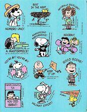 Vintage Peanuts Snoopy Hallmark Full Sticker Sheet