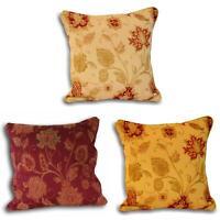 "Zurich Cushion Covers Floral Jacquard Luxury Cushions Cover 18"" x 18"" Paoletti"