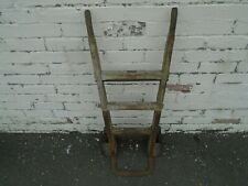 More details for antique small wooden trolley/sack barrow