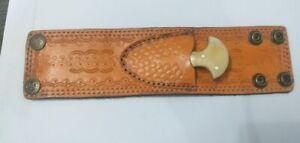 Custom Hand made knife king's Leather Wrist Band with Knife