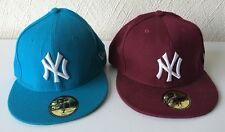 2 x New Era 5950- New York Yankees Baseball Caps - 55.8 & 56.8 - Blue & Purple